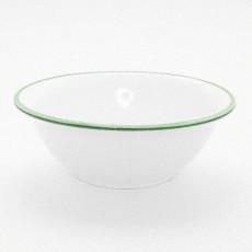 Gmundner Keramik Grüner Rand Salatschüssel 20 cm