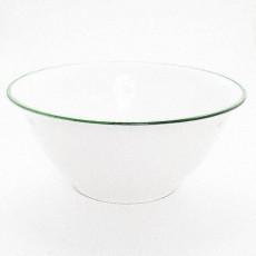 Gmundner Keramik Grüner Rand Salatschüssel 33 cm
