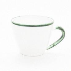 Gmundner Keramik Grüner Rand Kaffee Obertasse Gourmet 0,2 l