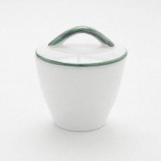 Gmundner Keramik Grüner Rand Zuckerdose Gourmet 9 cm