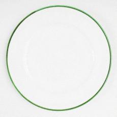 Gmundner Keramik Grüner Rand Speiseteller Gourmet 29 cm