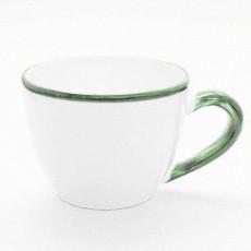 Gmundner Keramik Grüner Rand Tee Obertasse Maxima 0,4 l