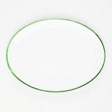 Gmundner Keramik Grüner Rand Platte oval 28 cm
