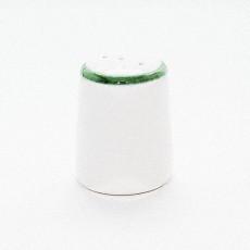 Gmundner Keramik Grüner Rand Pfefferstreuer glatt h: 5 cm