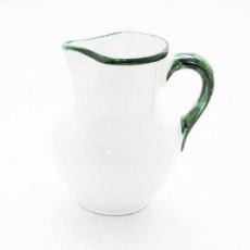 Gmundner Keramik Grüner Rand Krug Wiener Form 0,75 l
