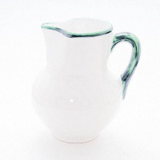 Gmundner Keramik Grüner Rand Krug Wiener Form 1 l