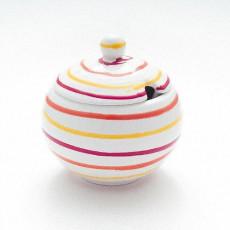 Gmundner Keramik Landlust Zuckerdose glatt mit Ausschnitt 10 cm