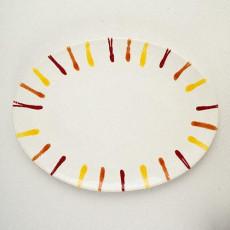 Gmundner Keramik Landlust Platte oval 28 cm