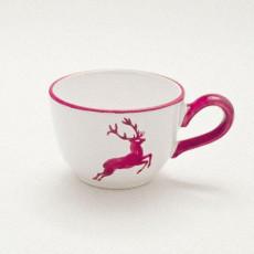 Gmundner Keramik Bordeauxroter Hirsch Kaffee-Obertasse glatt 0,19 L / h: 6,6 cm