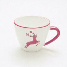 Gmundner Keramik Bordeauxroter Hirsch Kaffee-Obertasse Gourmet 0,2 L / h: 7,5 cm