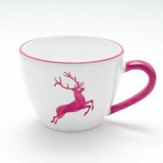 Gmundner Keramik Bordeauxroter Hirsch Tee-Obertasse Maxima 0,4 L