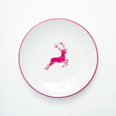 Gmundner Keramik Bordeauxroter Hirsch Kaffee-/Tee-Untertasse Cup d: 15 cm / h: 2,5 cm