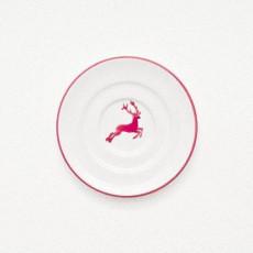 Gmundner Keramik Bordeauxroter Hirsch Mokka-/Espresso-Untertasse Gourmet d: 11 cm