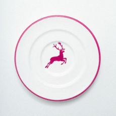 Gmundner Keramik Bordeauxroter Hirsch Kaffee-Untertasse Gourmet d: 16 cm