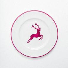 Gmundner Keramik Bordeauxroter Hirsch Dessertteller / Frühstücksteller Gourmet d: 18 cm / h: 1,8 cm