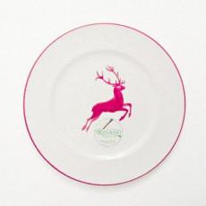 Gmundner Keramik Bordeauxroter Hirsch Dessertteller / Frühstücksteller Gourmet d: 22 cm / h: 2,2 cm