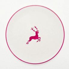 Gmundner Keramik Bordeauxroter Hirsch Speiseteller Cup d: 28 cm / h: 2,6 cm
