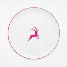 Gmundner Keramik Bordeauxroter Hirsch Platzteller Cup d: 32 cm / h: 2,2 cm