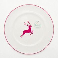 Gmundner Keramik Bordeauxroter Hirsch Speiseteller Gourmet d: 27 cm / h: 2 cm