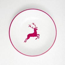 Gmundner Keramik Bordeauxroter Hirsch Suppenteller Cup d: 20 cm / h: 4,4 cm