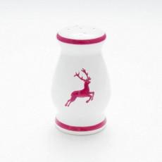 Gmundner Keramik Bordeauxroter Hirsch Salzstreuer bauchig h: 8,5 cm