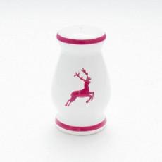 Gmundner Keramik Bordeauxroter Hirsch Pfefferstreuer bauchig h: 8,5 cm