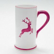 Gmundner Keramik Bordeauxroter Hirsch Bierkrug Form-A 0,5 L / h: 17 cm