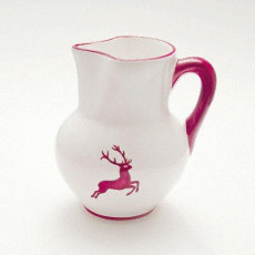 Gmundner Keramik Bordeauxroter Hirsch Krug Wiener Form 1 L / h: 8,8 cm