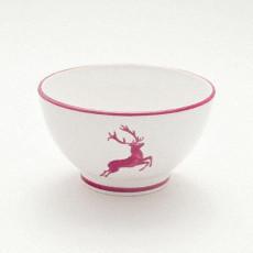 Gmundner Keramik Bordeauxroter Hirsch Müslischale groß d: 14 cm / h: 7,8 cm / 0,4 L