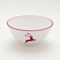 Gmundner Keramik Bordeauxroter Hirsch Schüssel d: 20 cm / 1 L