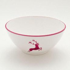 Gmundner Keramik Bordeauxroter Hirsch Schüssel d: 23 cm / 1,5 L