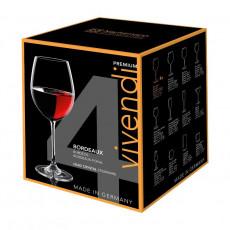 Nachtmann Vivendi Premium - Lead Crystal Bordeaux Pokal Glas Set 4-tlg. 763 ml