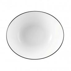 Seltmann Weiden Modern Life Black Line Schüssel oval l: 21 cm / h: 8 cm / 1,0 L