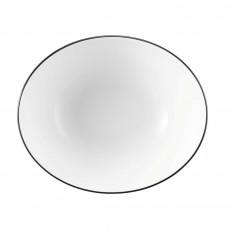 Seltmann Weiden Modern Life Black Line Schüssel oval l: 25,5 cm / h: 11 cm / 1,90 L