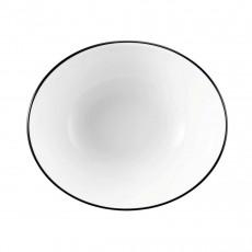 Seltmann Weiden Modern Life Black Line Suppenschale oval l: 16 cm / h: 4 cm / 0,42 L