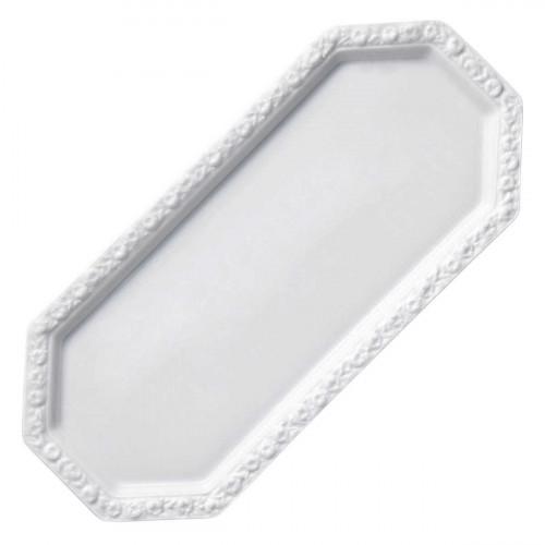 Rosenthal Tradition Maria white cake plate rectangular 36 x 16 cm