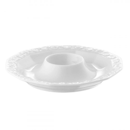 Rosenthal Maria white egg cup with shelf