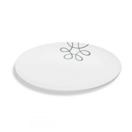 Gmundner Ceramic Pure Flamed Grey oval plate 33x26 cm