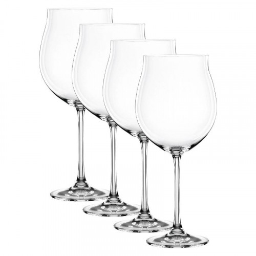 Nachtmann,'Vivendi Premium - Lead Crystal' Burgundy Goblet,4 pcs set,897 ml