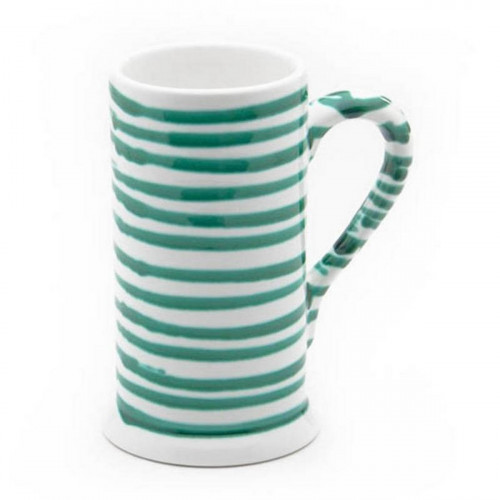 Gmundner Keramik,'Grüngeflammt' Beer mug Form A 0.5 l