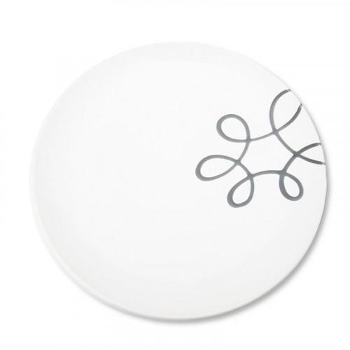 Gmundner Keramik,'Pur Geflammt Grau' Dining Plate 25 cm