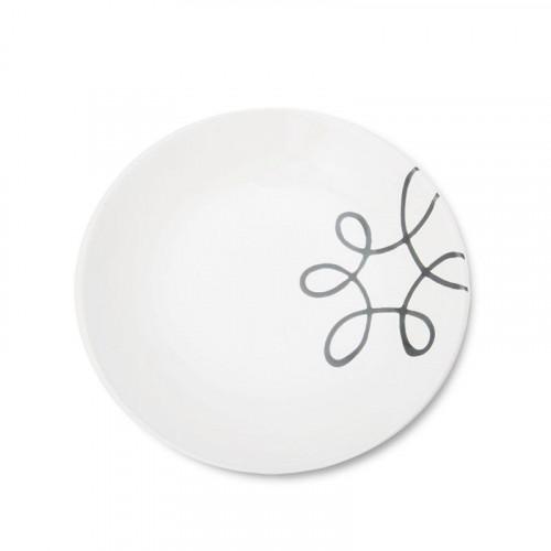 Gmundner Keramik,'Pur Geflammt Grau' Soup Plate 20 cm