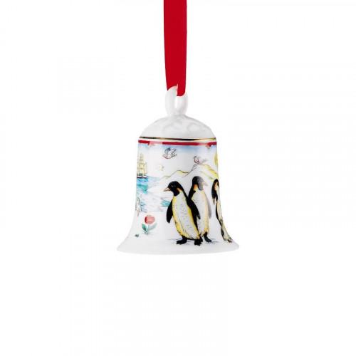 Hutschenreuther,'Jahresartikel Weihnachten 2017' Porcelain bell 2017 'South Pole' h: 7 cm