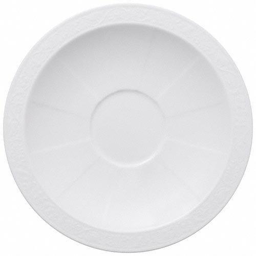 Villeroy & Boch 'White Pearl' Breakfast Cup Saucer 18 cm