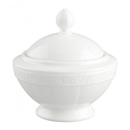 Villeroy & Boch 'White Pearl' Sugar / Jam Bowl 6 Persons 0.35 L