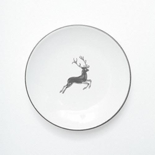 Gmundner Ceramics 'Grey Deer' Tea Saucer Cup 15 cm