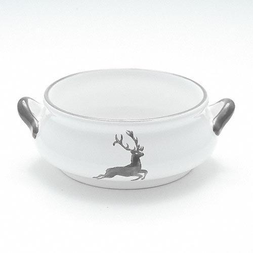 Gmundner Ceramics 'Grey Deer' Soup Bowl 0.37 L
