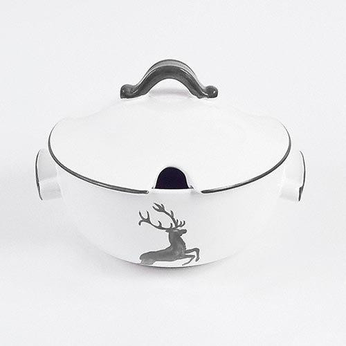 Gmundner Ceramics 'Grey Deer' Soup Tureen,2 l,23 cm