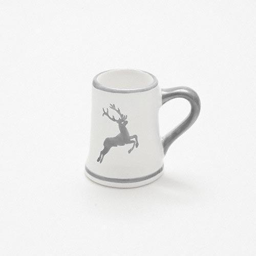 Gmundner Ceramics 'Grey Deer' Jug Mini Mug Height 5 cm