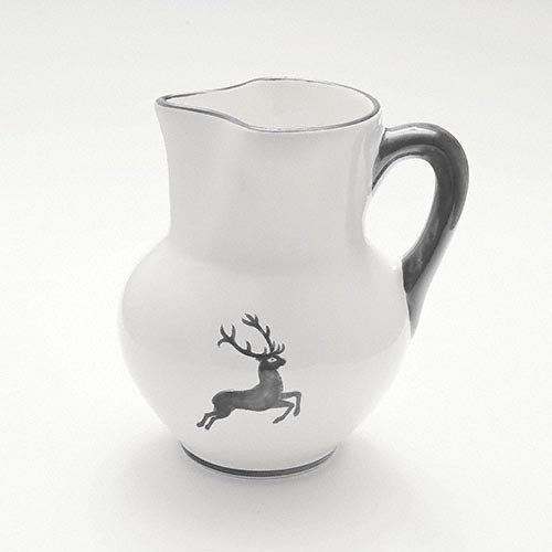 Gmundner Ceramics 'Grey Deer' Vienna Jug 1 L